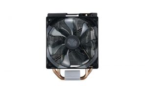 COOLER MASTER - Hyper 212 LED Turbo Dual XtraFlo 120mm PWM Fan Red LED 4 direct contact heatpipe. Black top cover. AM4 READY
