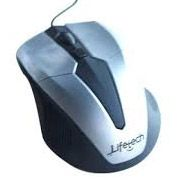 LIFETECH - MOUSE SKY SILVER - USB Optical wired