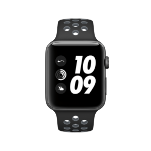 APPLE - Watch Nike+: 42mm Space Grey Aluminium Case with Black/Cool Grey Nike Sport Band