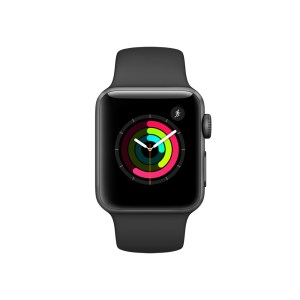 APPLE - Watch Series 2: 38mm Space Black Stainless Steel Case with Space Black Sport Band