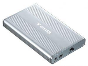 TOOQ - Caixa EXTERNA TQE-2512 25P 95 MM IDE-SATA USB 2.0 CINZA