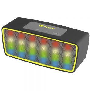 NGS - 3W Bluetooth - TF CARD SLOT- USB Port - FM Radio LED Lights - Preto