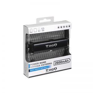 TOOQ - POWERBANK TQPB-1026-B 2600MAH 1USB 5V/1A PRETO
