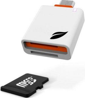 LEEF - Leitor Cartões microSD White Orange