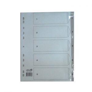 OFFICE - Separadores Plastico Numerados (1 a 5)