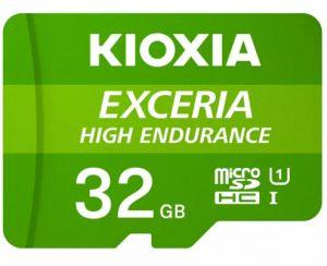 KIOXIA - MICRO SD 32GB EXCERIA HIGH ENDURANCE UHS-I C10 R98 COM ADAPTADOR