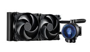 COOLER MASTER - MasterLiquid Pro 280 Exclusive dual chambers design to improve the performance and lifespan of pump 2x MasterFan Pro 140 Air Pressure FEP tubing blue LED