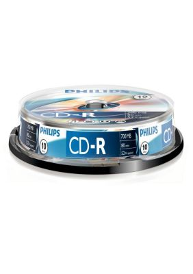 PHILIPS - CD-R 80Min 700MB 52x Cakebox (10 unidades)