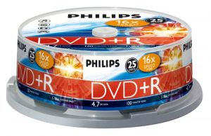 PHILIPS - DVD+R 4,7GB 16x Cakebox (25 unidades)