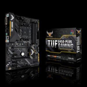 ASUS - MB AMD B450 SKT AM4 4XDDR4 DVI-D/HDMI ATX -TUF B450-PLUS GAMING