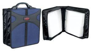 KEPLER - Arquivador 400 CDS poliéster e PVC azul