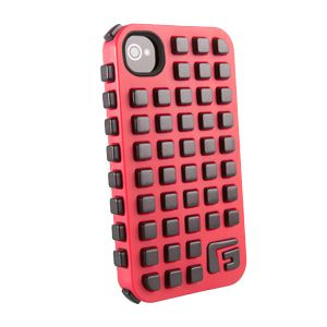 G-FORM - iPhone Square - Red Shell / Black RPT - CP2IP4009E