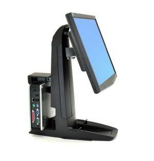 ERGOTRON - Neo-Flex All-In-One SC Lift Stand, Secure Clamp
