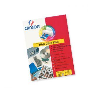 CANSON - Papel Fotografico Canson Film Polyest 130gr A4 p/InkJet 10Fls Branco