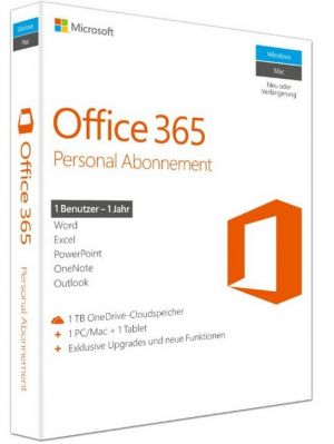 MICROSOFT - Office 365 Personal Inglês EuroZone Subscr 1YR Medialess P2