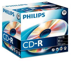 PHILIPS - CD-R 80Min 700MB 52x Jewel Case (10 unidades)