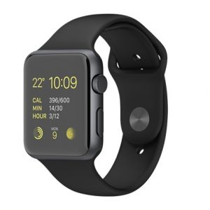 APPLE - Watch SPORT 42mm Space Gray Aluminium Case with Black Sport Band