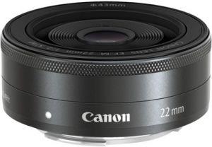 Canon EF-M 22mm f/2 STM Wide lens Preto