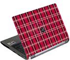 G-CUBE - Notebook Skin Red (Maid for plaid collection)