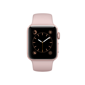APPLE - Watch Series 2: 38mm Rose Gold Aluminium Case with Pink Sand Sport Band