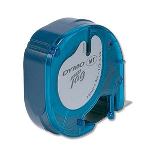 DYMO - CINTAS PLASTICO 12MM X 4M NE/AZ