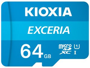 KIOXIA - MICRO SD 64GB EXCERIA UHS-I C10 R100 COM ADAPTADOR