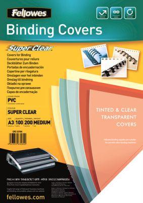 FELLOWES - Capa para encadernacao A4 Transparente PVC 300 Mikron