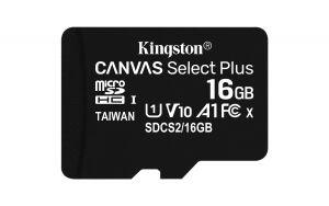 KINGSTON - SD 16GB MICRO SDHC 100R A1 C10 CARD C/ADAPT