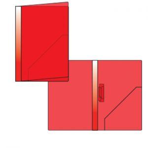 OFFICE - Dossier Plastico 2000 c/Mola 134PL Vermelho Opaco