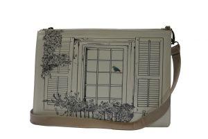 LA ROSE DE SIM - Bolsa artesanal em pele p/ iPad Mini