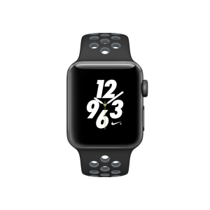 APPLE - Watch Nike+: 38mm Space Grey Aluminium Case with Black/Cool Grey Nike Sport Band