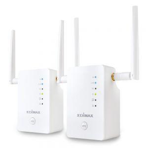 EDIMAX - Gemini RE11 AC1200 Dual- Band Home Wi- Fi Roaming Kit Wi- Fi Extender / Access Point / Wi- Fi Bridge