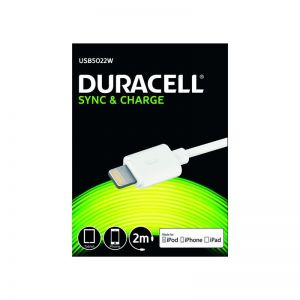 DURACELL - Sync Charge Cable Lightning 2m White
