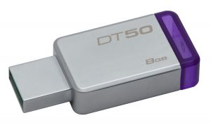 KINGSTON - DataTraveler 50 8gb USB 3.0 Metal/Purple
