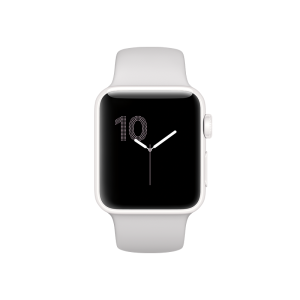APPLE - Watch Edition: 38mm White Ceramic Case with Cloud Sport Band