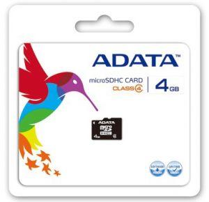 ADATA - Cartão 4 GB Class 4 microSDHC - AUSDH4GCL4-R
