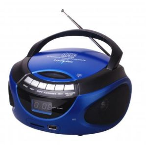 METRONIC - Rádio CD MP3 Bluetooth Azul 477129