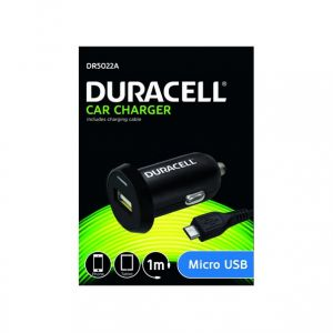 DURACELL - Duracell Single 2.4A +1M Micro USB Cable Black