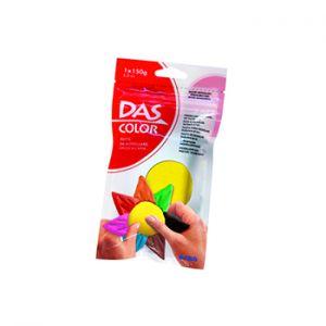 DAS - Pasta de modelar DAS Color Amarelo 150gr