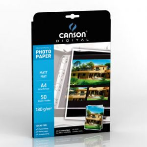 CANSON - Papel Fotografico Canson Performance Mate 180gr A4 p/InkJet 50Fls