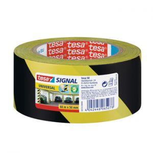 TESA - Fita Adesiva PP Sinalizacao Amarelo/ Preto 50mmx66mts 1un