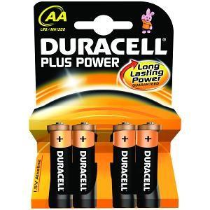 DURACELL - Pack de pilhas Duracell Plus Power AA