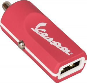 TRIBE - BUDDY CAR CHARGER 2.4A VESPA (BERRY)