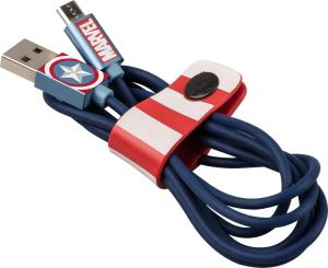 TRIBE - CABO MARVEL USB-MICROUSB (CAPTAIN AMERICA)