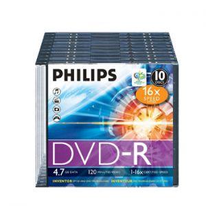 PHILIPS - DVD-R Philips 4.7GB 16X Slim Case 10