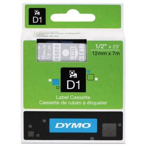 DYMO - D1 - CINTAS DYMO 12MMX7M BLANC/TRAN