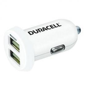 DURACELL - Duracell 1A+2.4A Dual USB In-Car Charger White