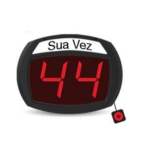 SIMPLEE - Micropoint SD2 - Display 2 Digitos com botoneira. Cor: vermelho