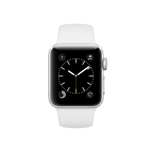 APPLE - Watch Series 2: 38mm Silver Aluminium Case with White Sport Band