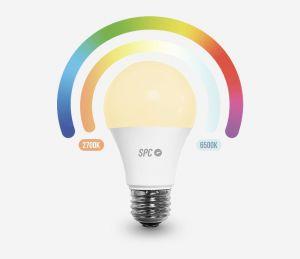 SPC - Lâmpada IOT AURA 800 Lumens Cor-Branco-Frio-quente 10W (70W) E27 A60